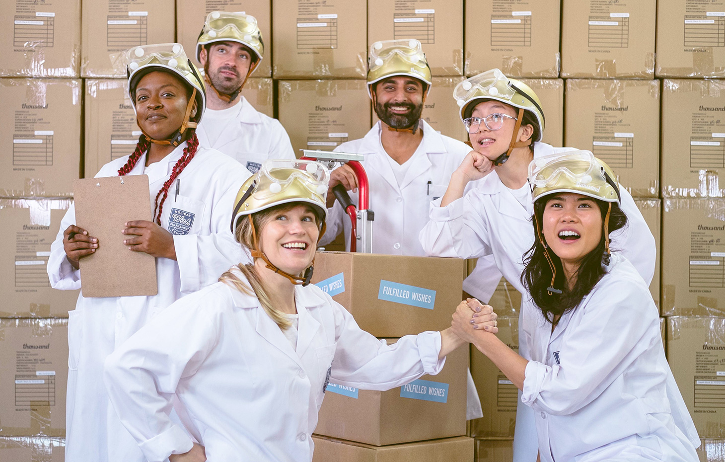 Thousand Holiday Wish Fulfillment Center Team