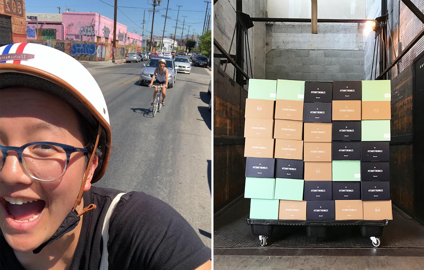 bike riding and bike helmet boxes