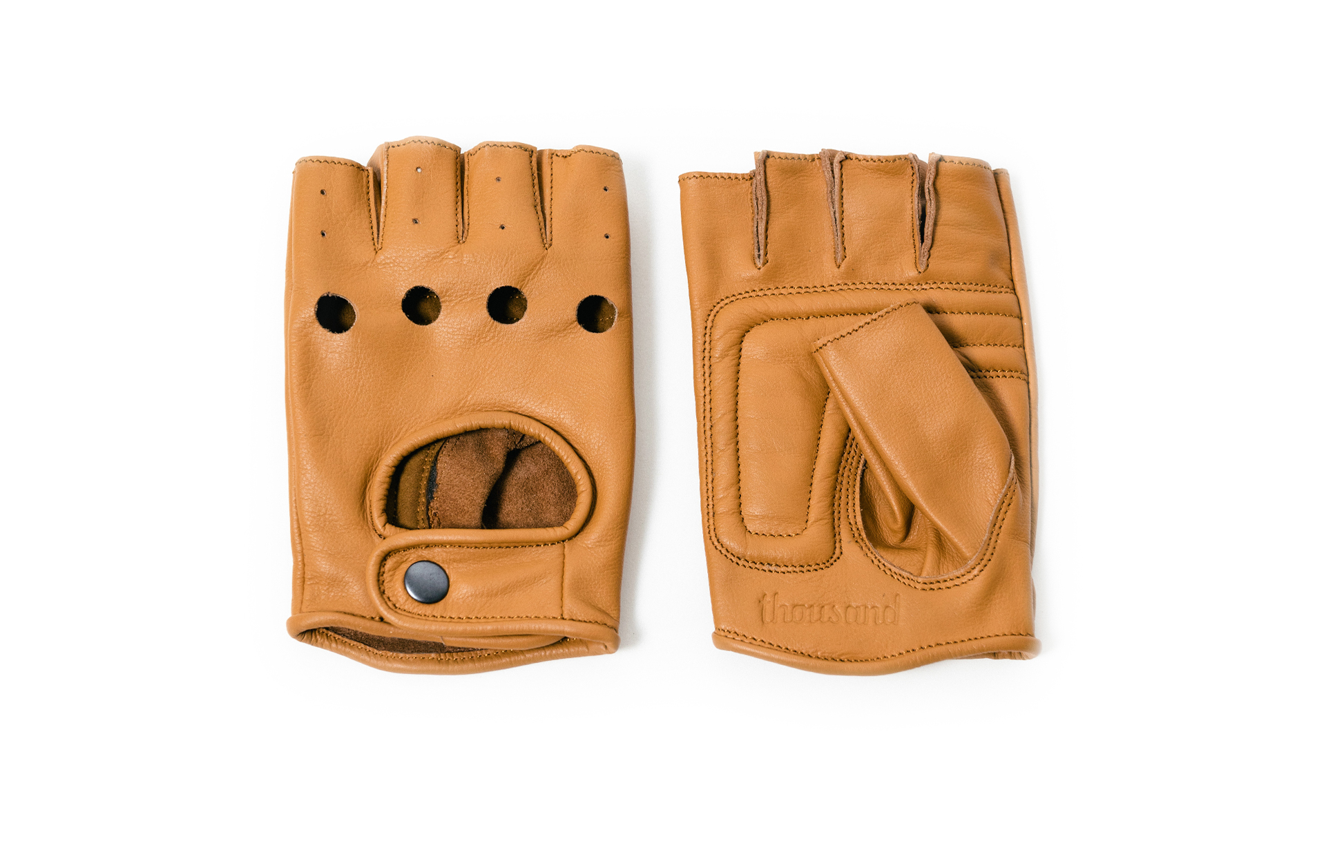 brown leather bike gloves