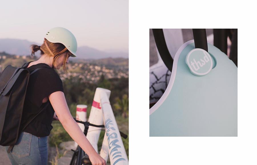 green bike helmet pop lock