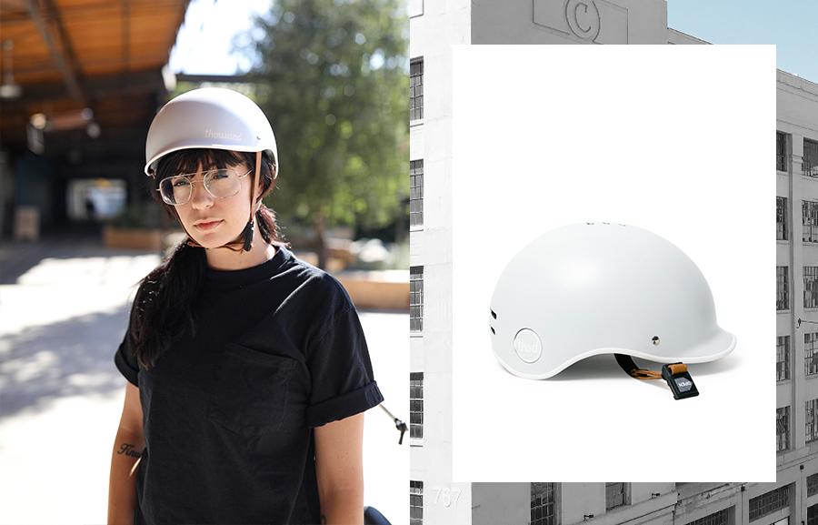 grey bike helmet