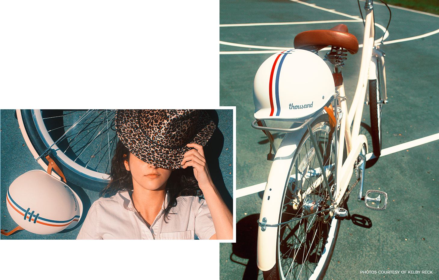 Retro bike helmet