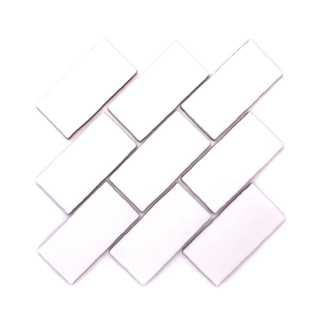 Dipped White in Classic Tile Arrangement