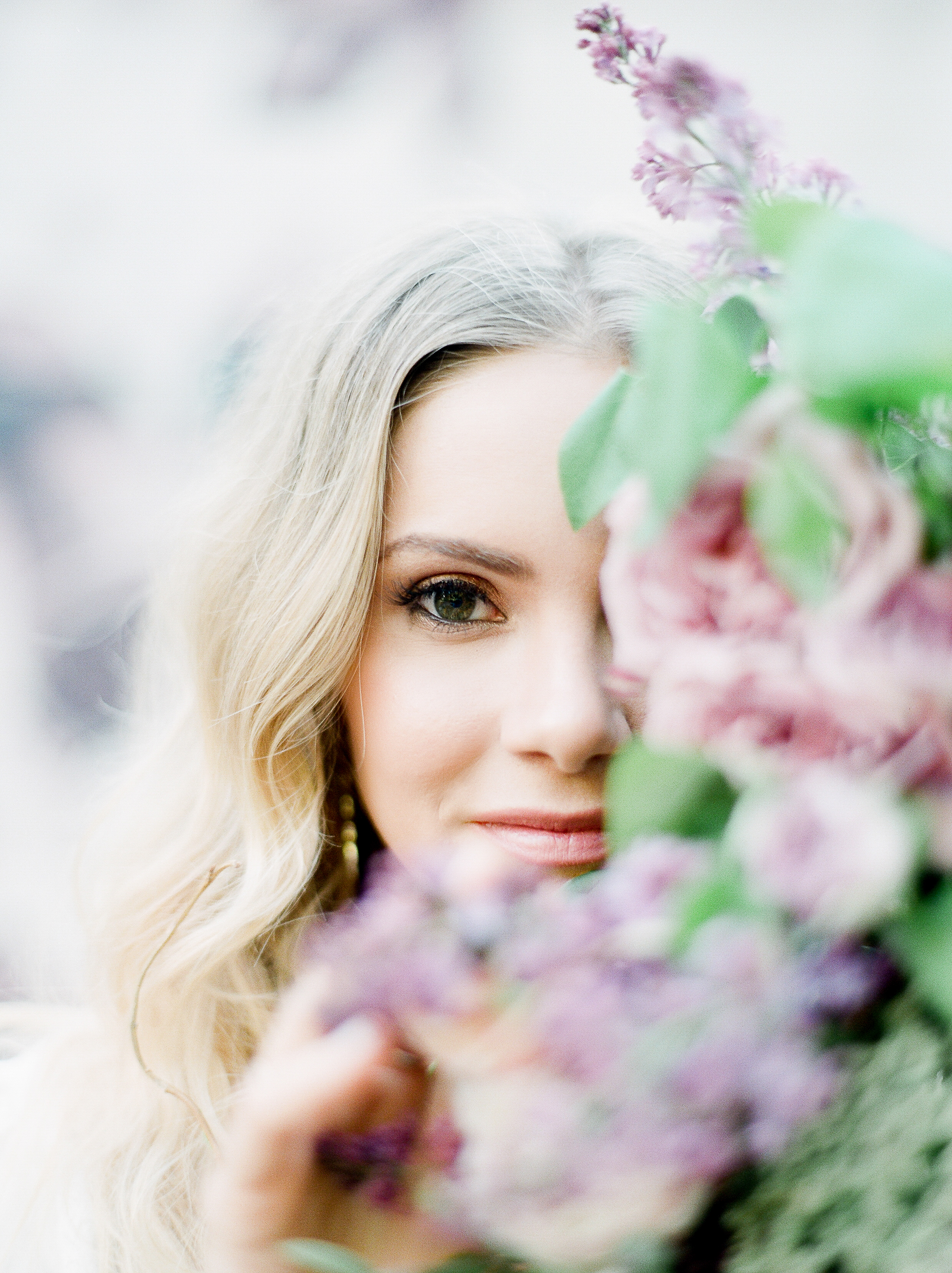 Julie Paisley, Wedding Photography, Destination Photographer, Lavender, Closeup, Bride Closeup, Flowers, Elopement, Elopement Photographer, Intimate,