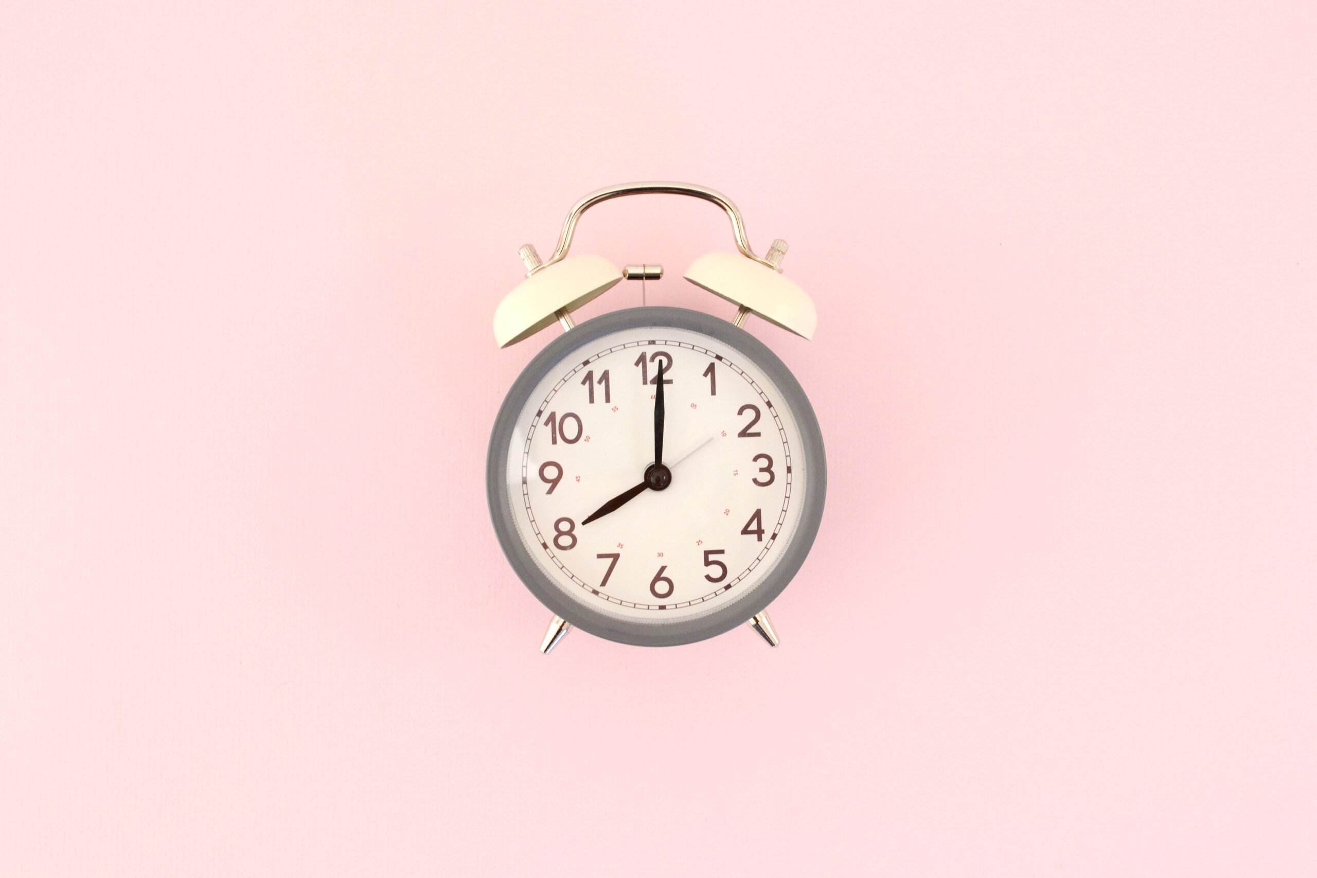 White Clock, Pink Background, What do Assistants do at Mini-Sessions