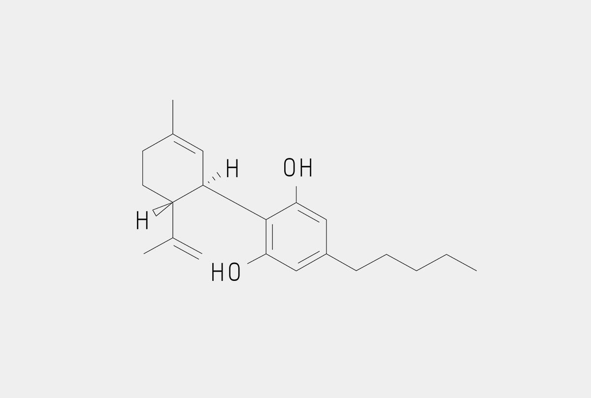 cannabidiol molecule chemical structure