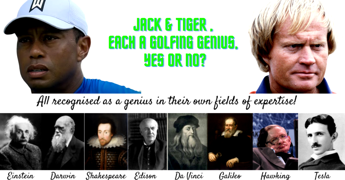 Jack and Tiger...golfing genius...Yes or No?