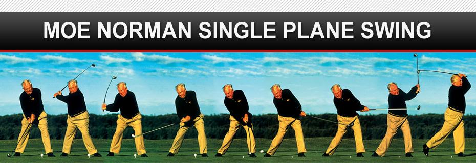 Mo Norman repeating golf swing