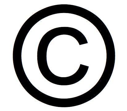 Copyright circle for creative work