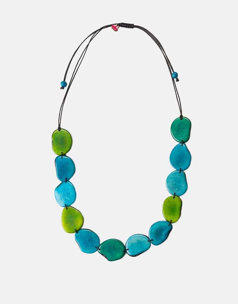 medellin tagua natural seed necklace