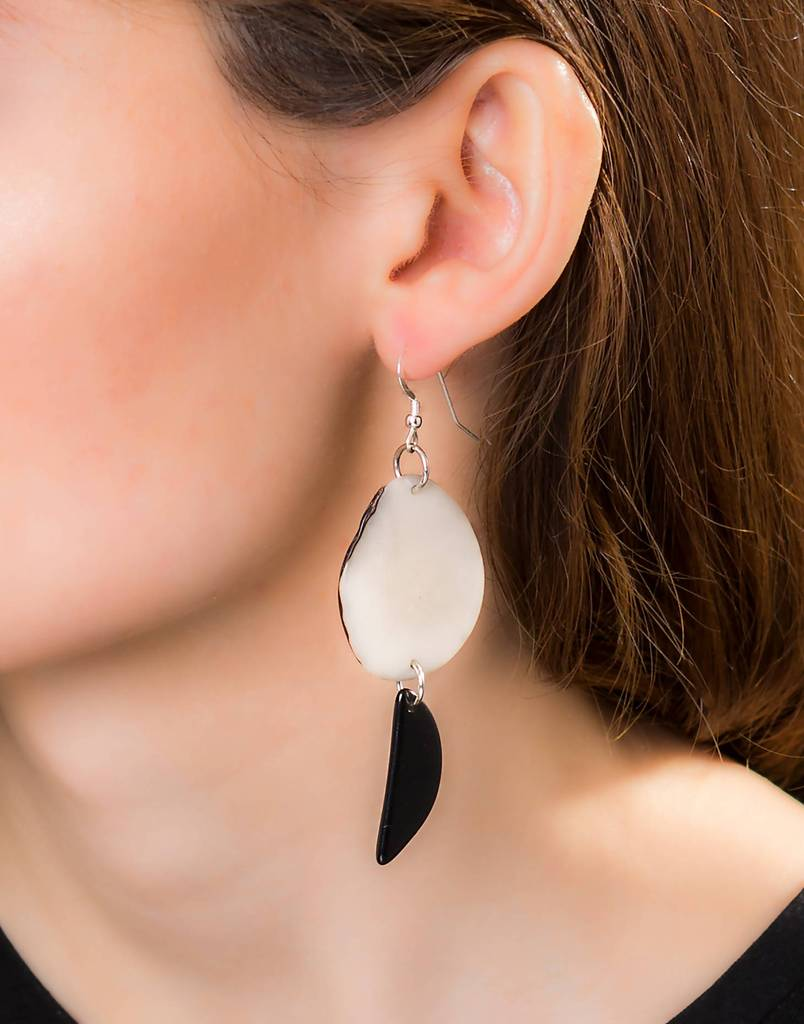 medellin tagua earrings long