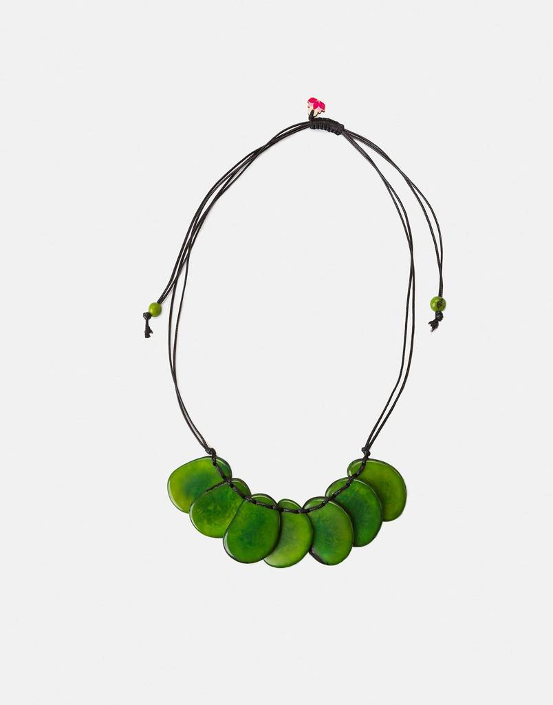 bogota tagua natural seed pod necklace