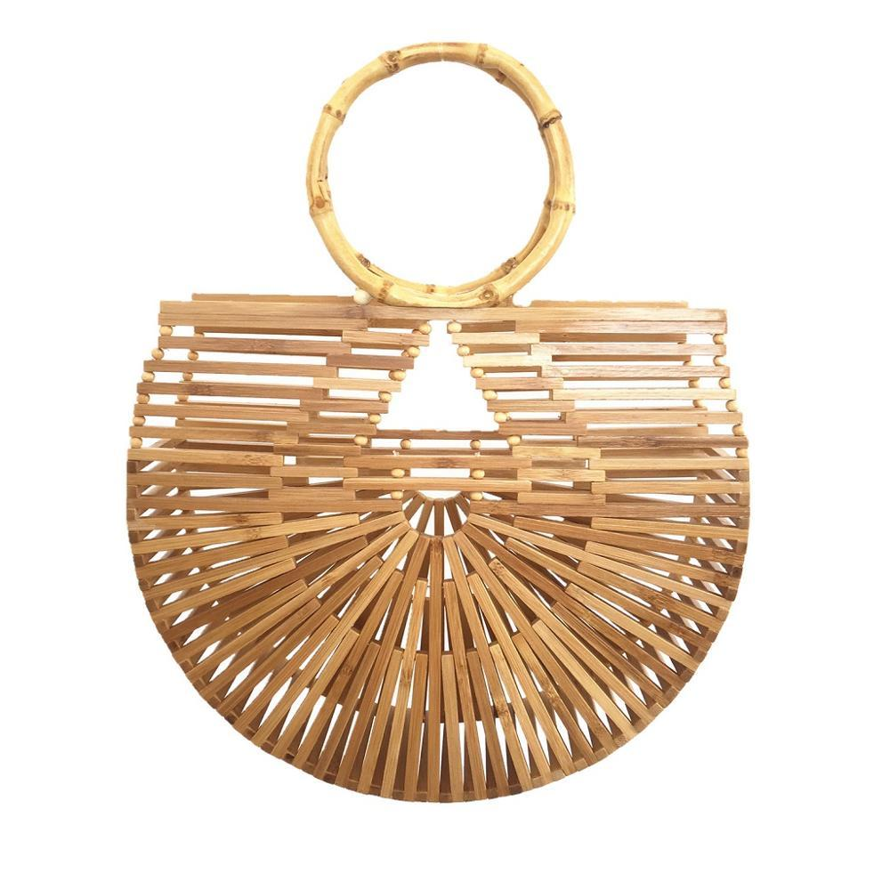 Full Hoop Half Moon Bamboo Bag