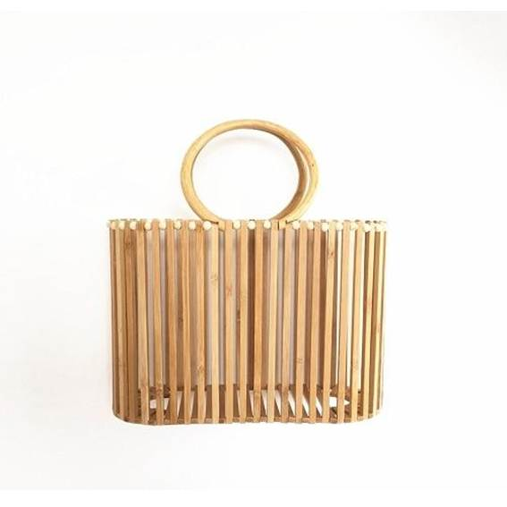 Bolso tote de bambú artesanal de lujo para mujer