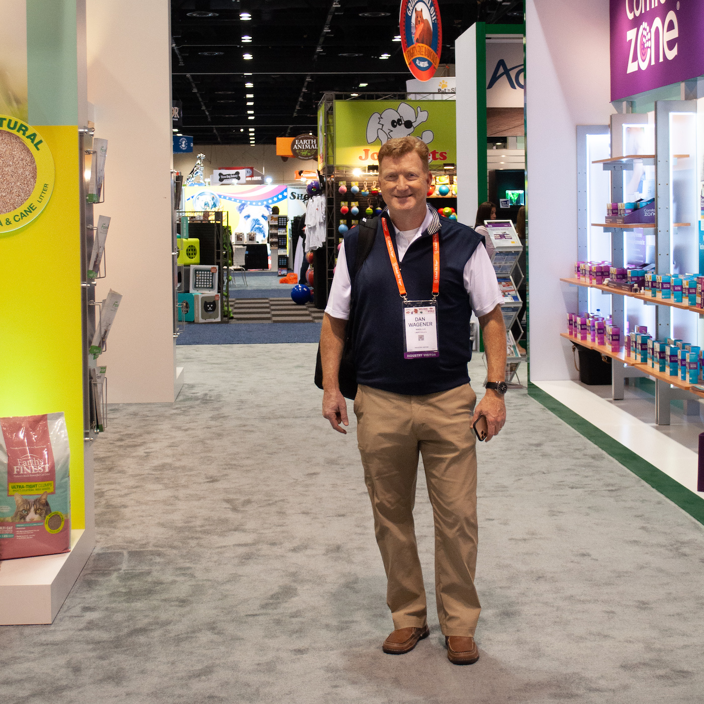 Dan Wagener of Wags at Global Pet Expo in Miami