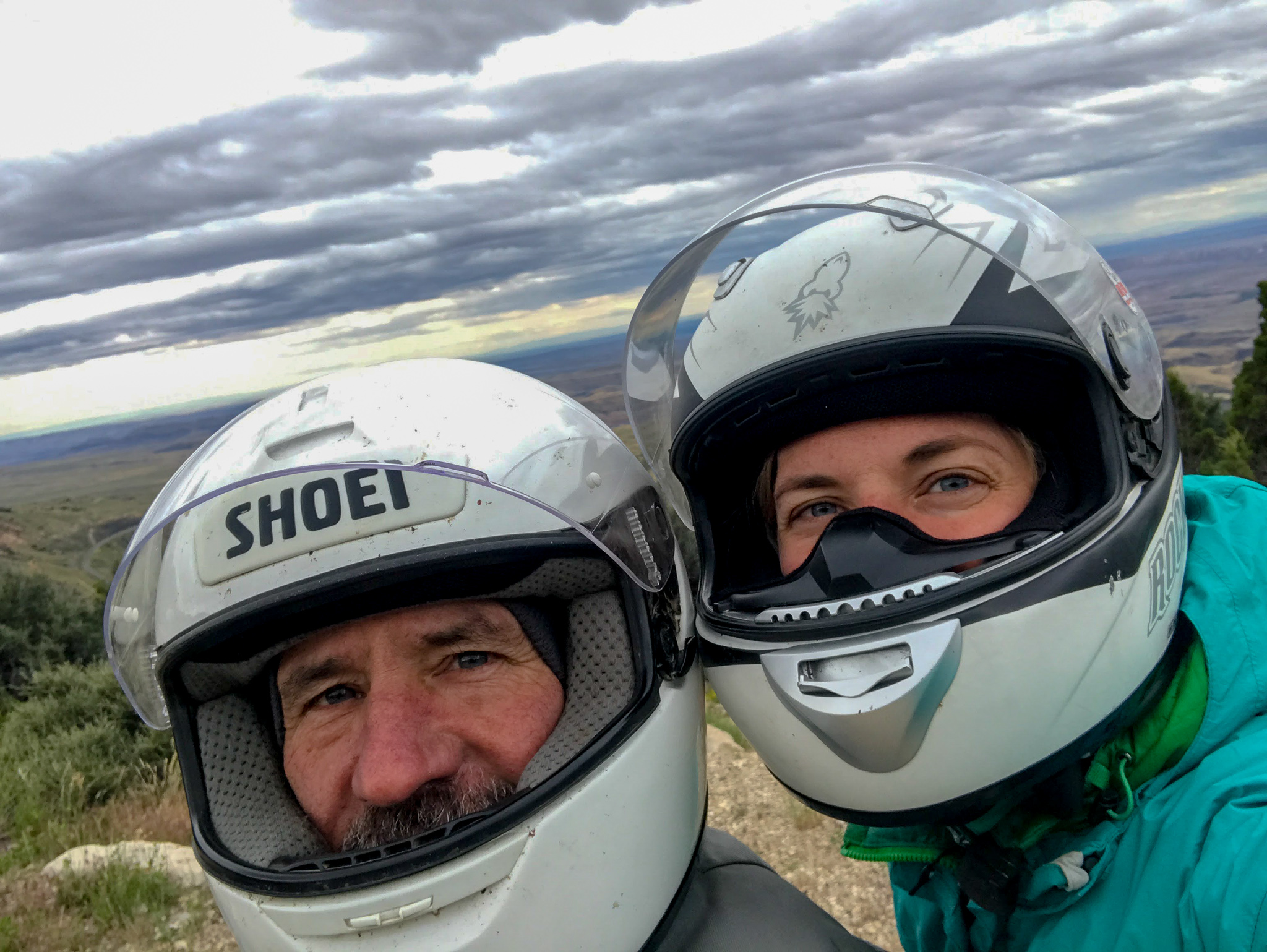 Father and Daughter motorcycle trip