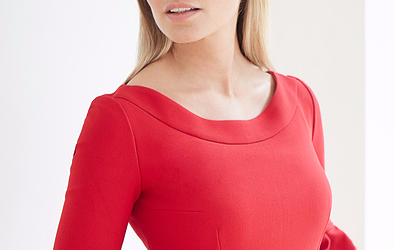 Cecily Caroline - Red Midi Dress