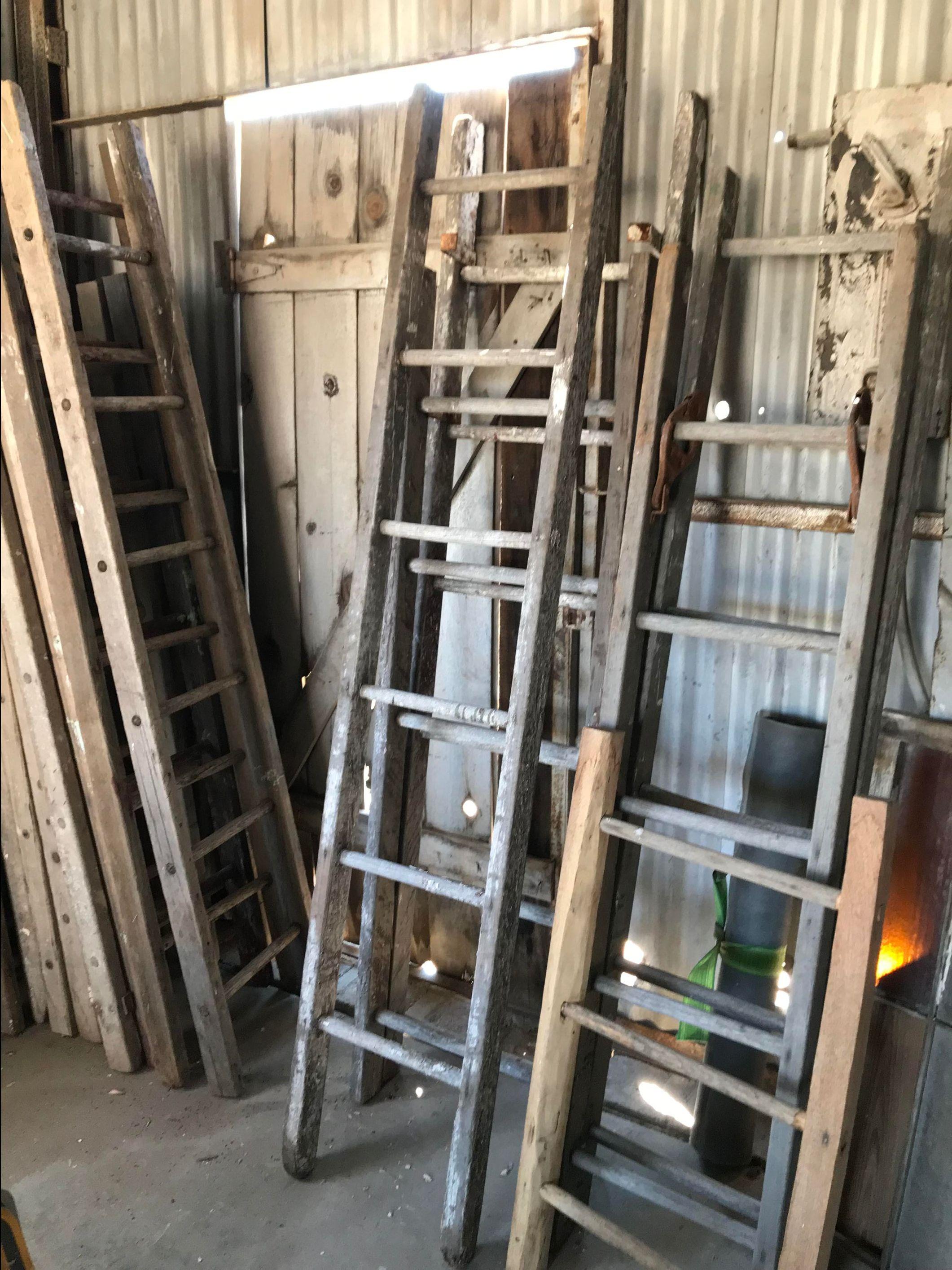 antique ladder