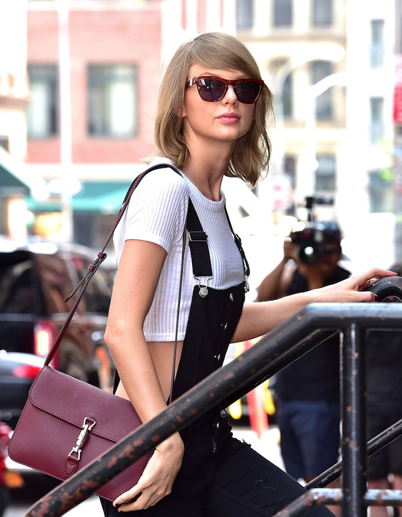 Taylor Swift Spotted In Westward Leaning Sunglasses