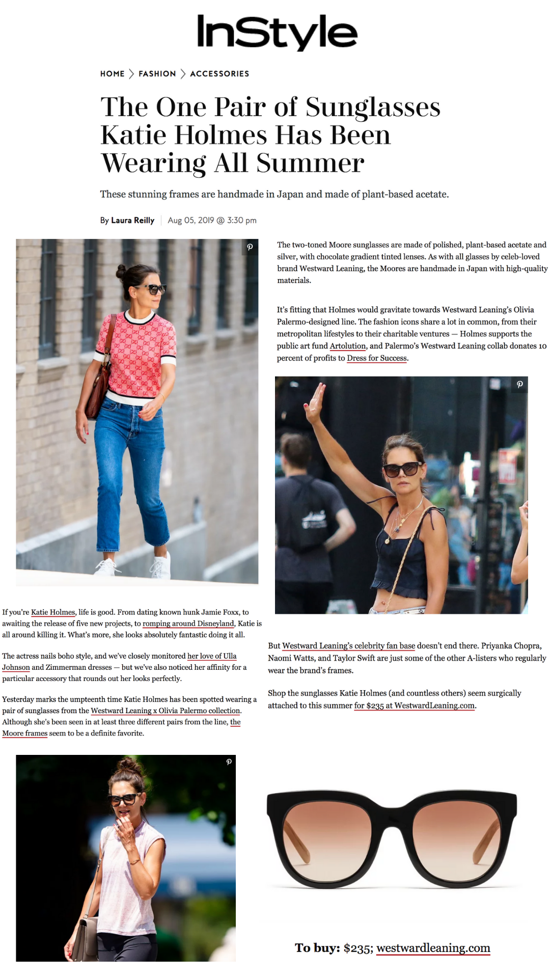 In Style Featuring Westward Leaning x Olivia Palermo Moore 03 as seen on Katie Holmes
