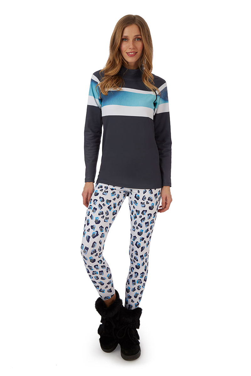 H Holderness Bellecote Base Layer and Snow Leopard thermal leggings