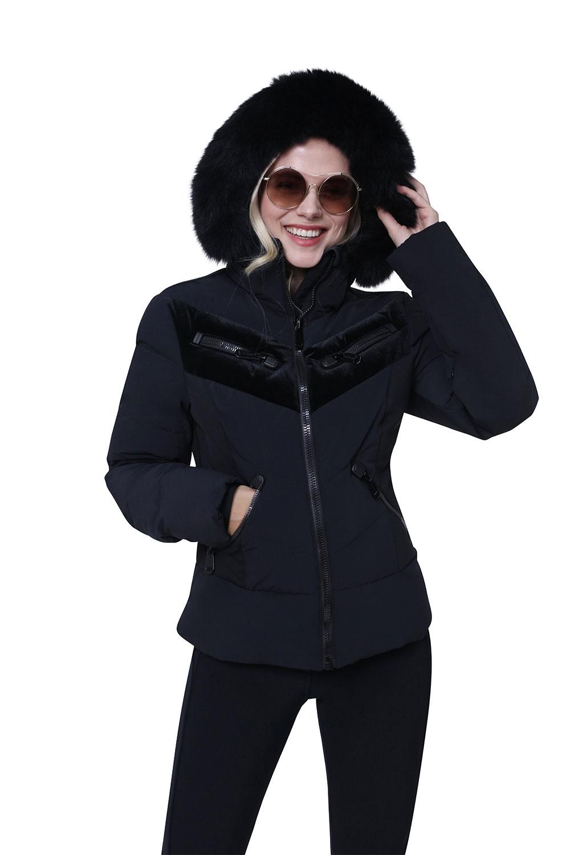 Black Designer Ski Wear for Women