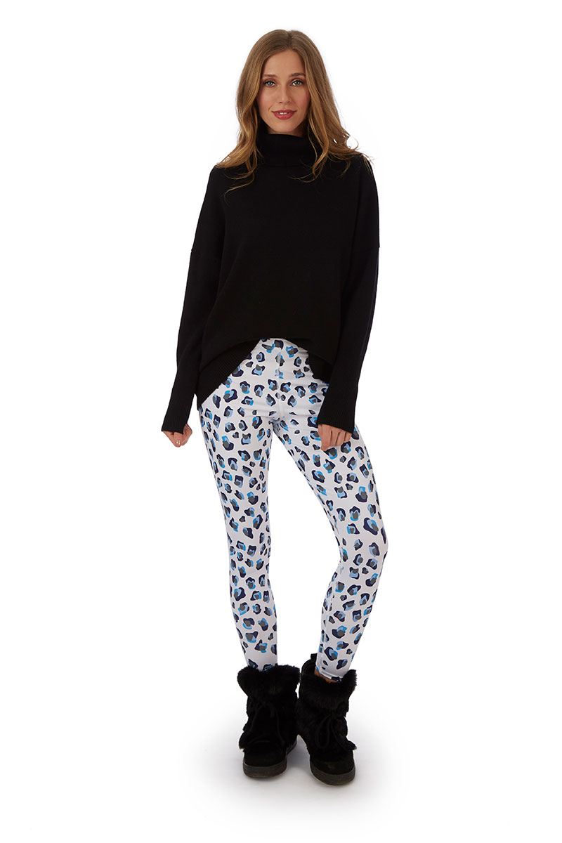 Snow Leopard Leggings by H. Holderness