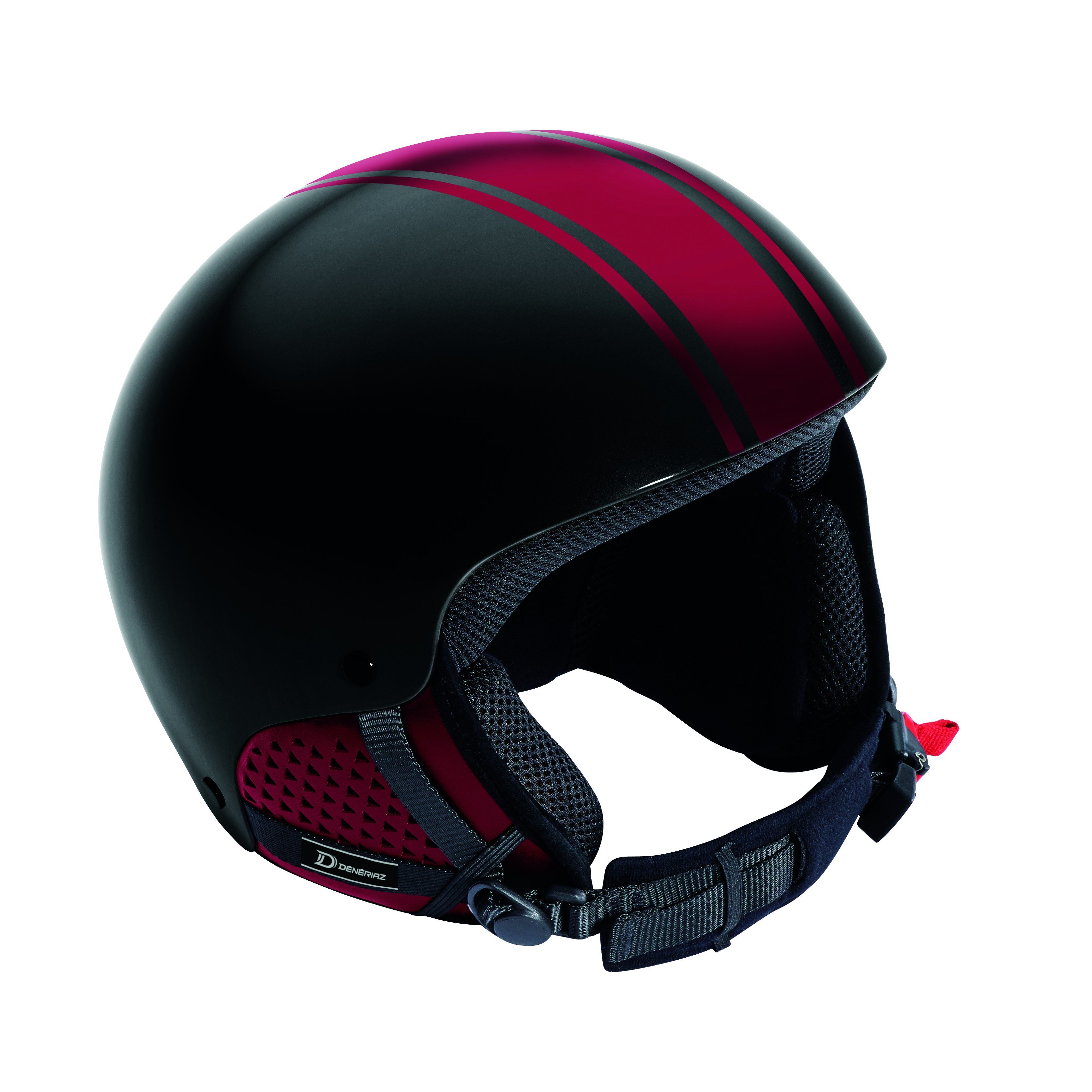 Deneriaz Torino Black and Red Ski Helmet