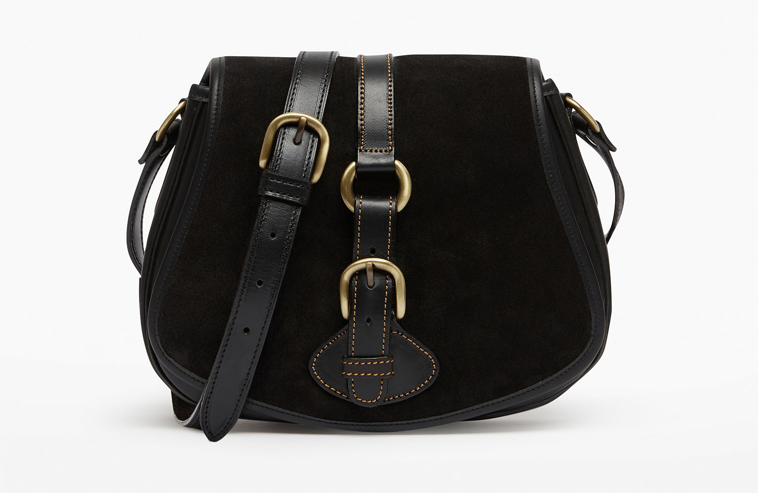 Tambor Cross Body Suede Bag by Penelope Chilvers