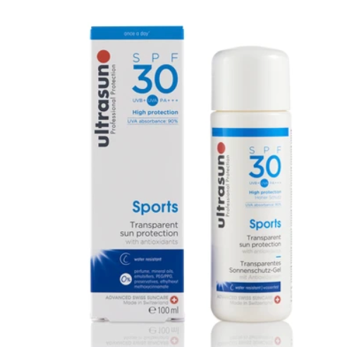 Ultrasun Sports gel sunscreen with 30spf