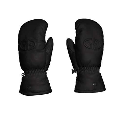 Hilja leather mittens in black