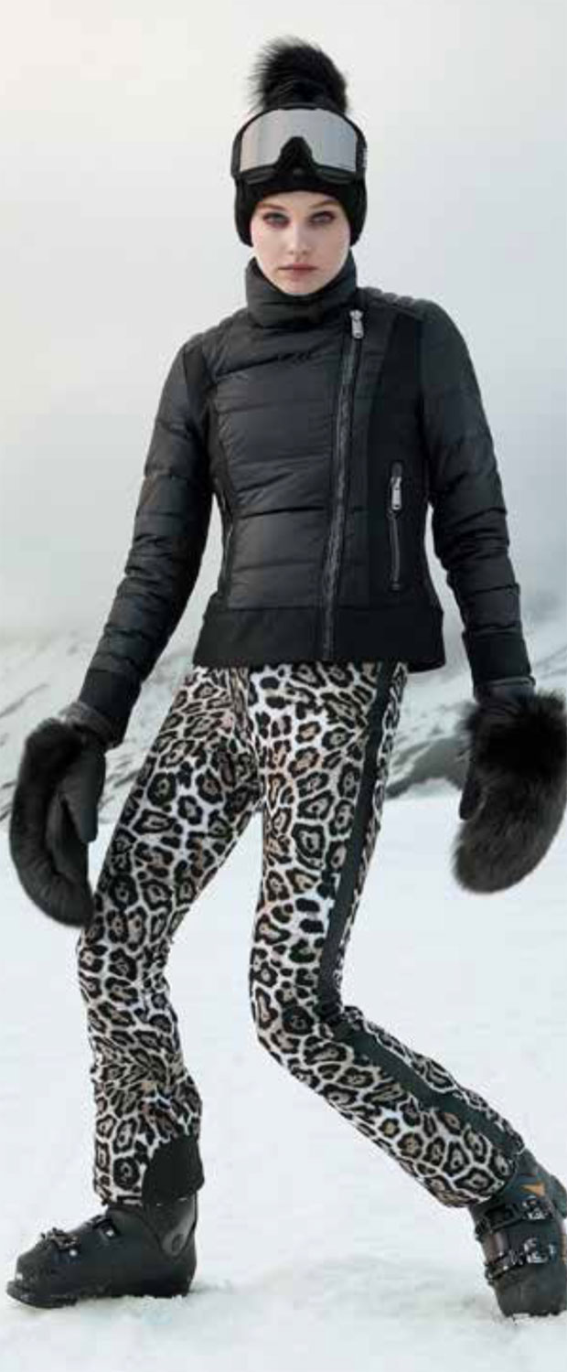 Goldbergh's luxury leopard print ski pants for women