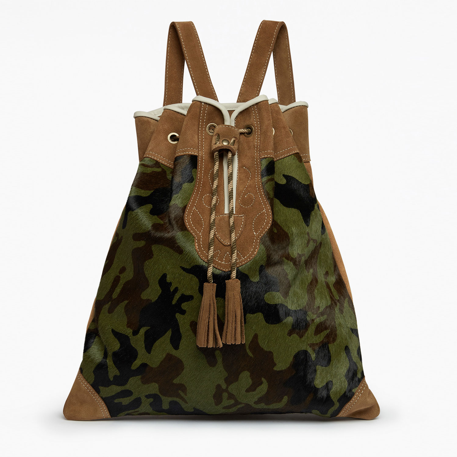 Camo pony rucksack by Penelope Chilvers