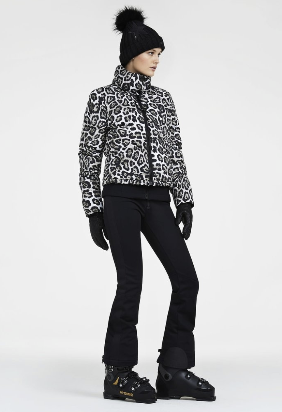 Goldbergh Lua Leopard Print Downfilled Ski Jacket