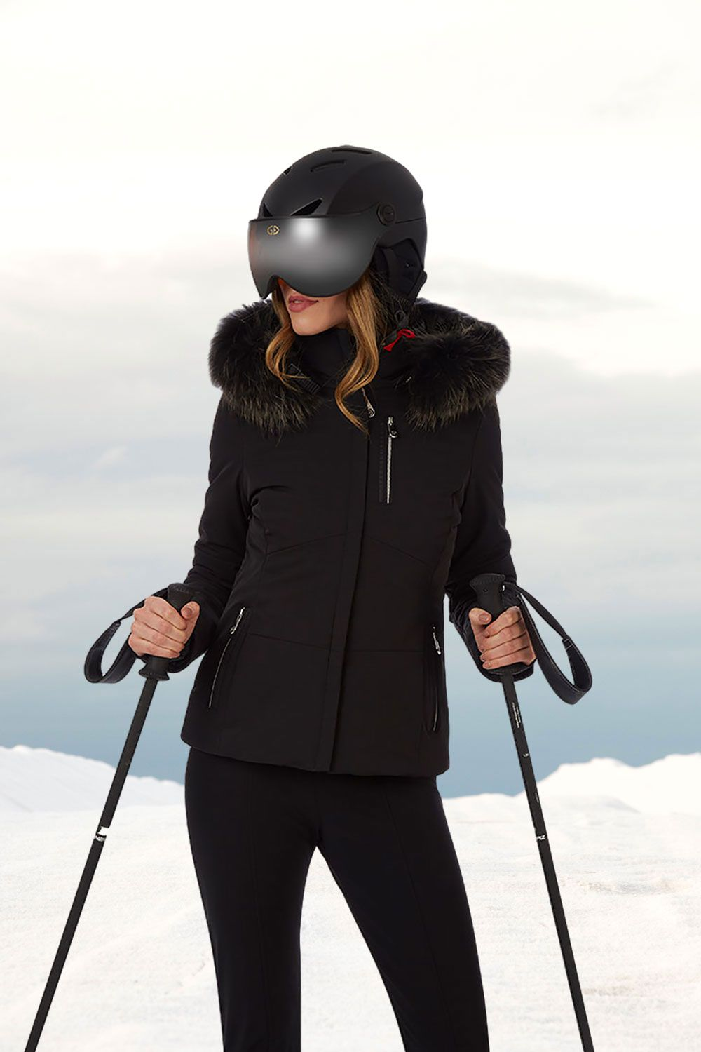 Black ski wear from Poivre Blanc