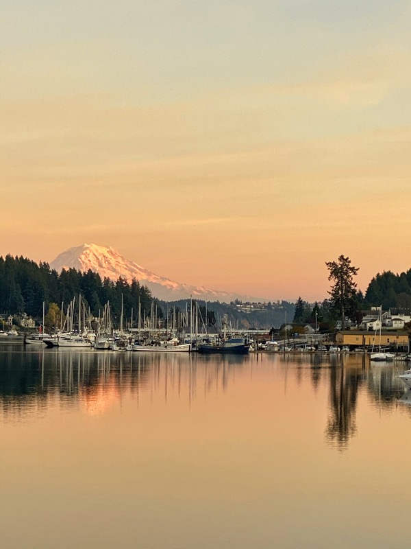 Mt. Rainier Sunset from Wonderland 222 Tomoe River Paper Planners and Notebooks
