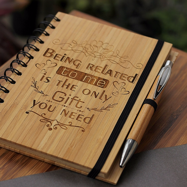 Unique brother/sister gifts - Rakhi Gifts - Fun brother/sister Gifts - best gift for  brother/sister  - birthday gifts for brother/sister  - Notebook for brother/sister  - Personalized Notebook - Wooden Notebook - Woodgeek Store