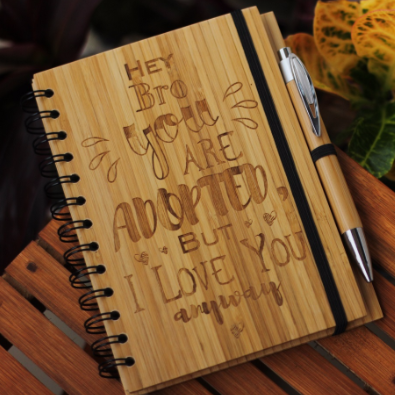 Best gifts for brother & sister - Unique brother & sister gifts - Rakhi Gifts - Fun  brother & sister Gifts - best gift for brother & sister - birthday gifts for  brother & sister - Notebook for  brother & sister - Personalized Notebook - Wooden Notebook - Woodgeek Store