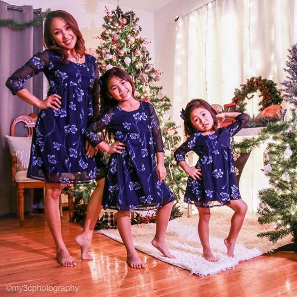 Matching-Empire-Waist-Dresses