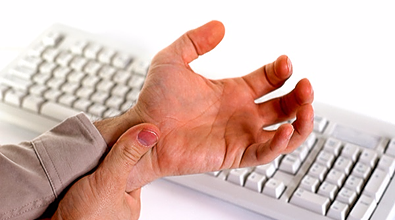 Repetitive Strain Injury at work, thumb pain, wrist pain, thumb support, wrist support