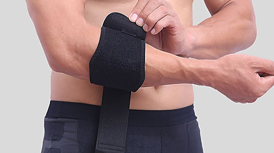 Support for painful elbow