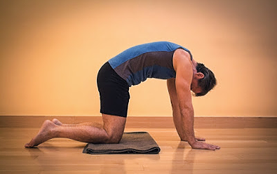cat cow stretch - Yoga poses for shoulder and neck pain