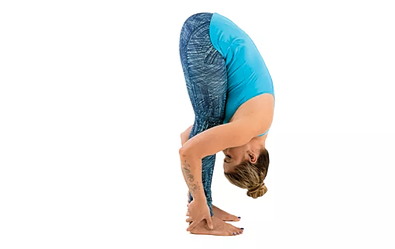 standing forward bend - Yoga poses for shoulder and neck pain