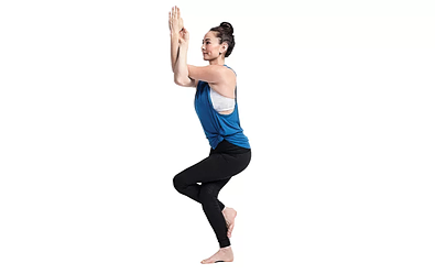 eagle pose - Yoga poses for shoulder and neck pain
