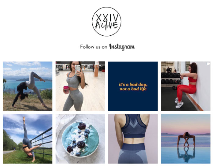 Follow XXIV Active on Instagram