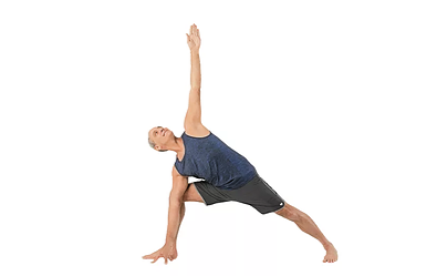 side angle pose - Yoga poses for shoulder and neck pain
