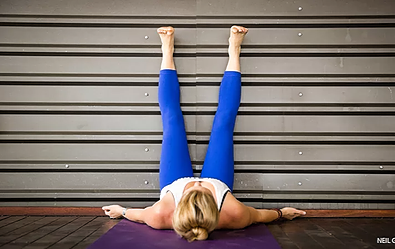 legs against the wall - Yoga poses for shoulder and neck pain