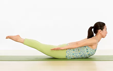 locust pose - Yoga poses for shoulder and neck pain