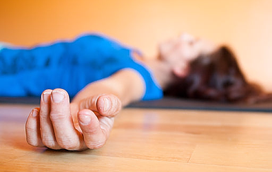 savasana - Yoga poses for shoulder and neck pain