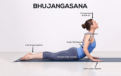 Cobra pose - Yoga poses for shoulder and neck pain